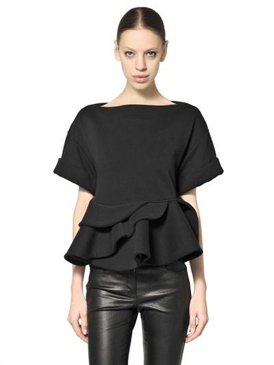 Givenchy Ruffled Cotton Fleece Top