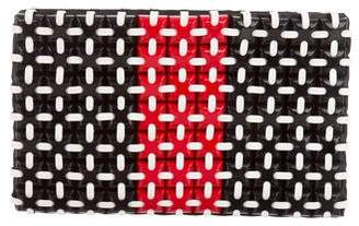 Roger Vivier Embellished Zip Clutch