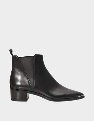 Acne Studios Jensen Flat Boots in Black Calf