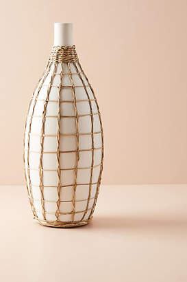 Anthropologie Wrapped Seagrass Vase