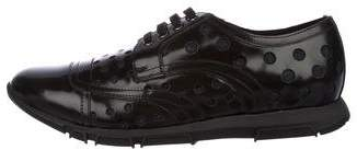 Dolce & Gabbana Polka Dot Leather Sneakers