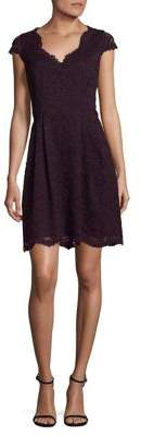 Vince Camuto Pleated Lace Dress