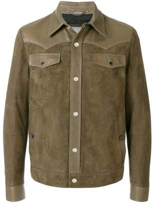 Lanvin two tone buttoned jacket