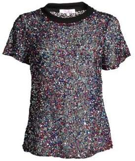 Parker Anna Multicolor Sequin Tee