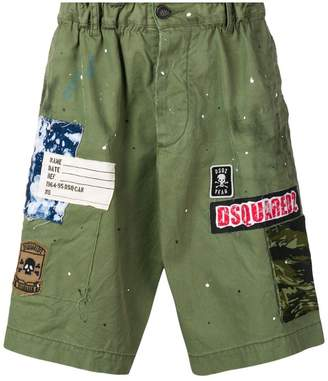 DSQUARED2 logo patch bermuda shorts