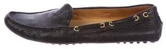Car Shoe Leather Round-Toe Loafers