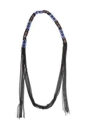 Chan Luu Blue Glass Bead Necklace