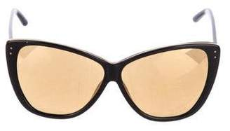 d7096ecd919b Pre-Owned at TheRealReal · Linda Farrow Oversize Mirrored Sunglasses