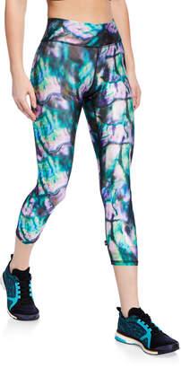 c867fe82d4642 Terez Tall Band Printed Capri Leggings