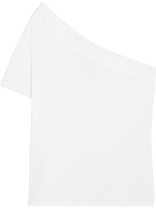 Jacquemus - One-shoulder Cotton-jersey Top - White $95 thestylecure.com