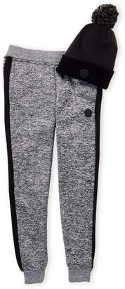 Buffalo David Bitton Boys 4-7) Two-Piece Marled Grey Zoltan Straight Fit Joggers & Hat Set