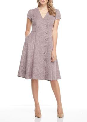 Gal Meets Glam Dainty Tweed Knee Length Dress