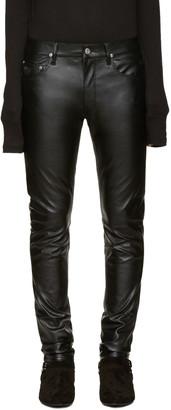April77 Black Leather Joey Jeans $195 thestylecure.com