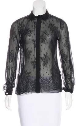 Jason Wu Silk Lace-Accented Top