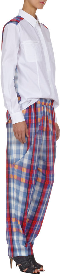 Thakoon Plaid-Back Shirt