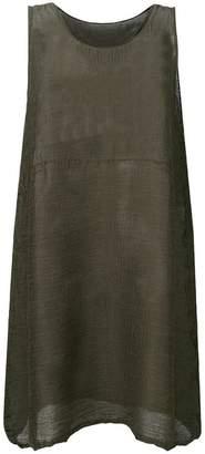 Issey Miyake boxy sheer vest top
