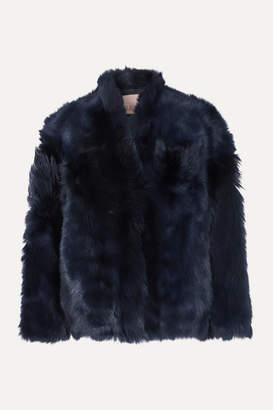 Karl Donoghue Shearling Jacket - Navy
