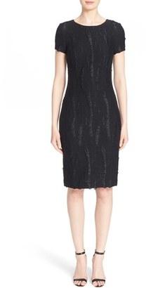 Women's St. John Collection Textured Fringe Knit Dress $1,195 thestylecure.com