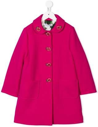 Dolce & Gabbana floral embellished coat