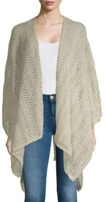 Calvin Klein Crochet Knit Shawl Cardigan