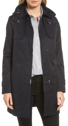 Women's Gallery A-Line Swing Raincoat With Detachable Hood & Liner $210 thestylecure.com