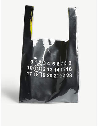 Maison Margiela Double leather and PVC tote