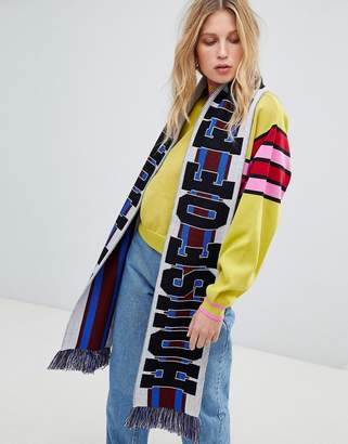 House of Holland Unisex striped maxi soccer scarf