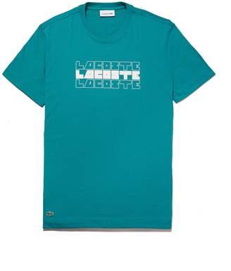 Lacoste Men's Crew Neck Lettering Cotton Jersey T-shirt