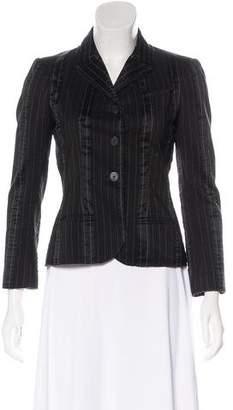 Chanel Striped Raw-Edge Blazer