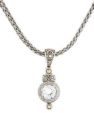 John Hardy Topaz & Diamond Batu Sari Pendant Necklace