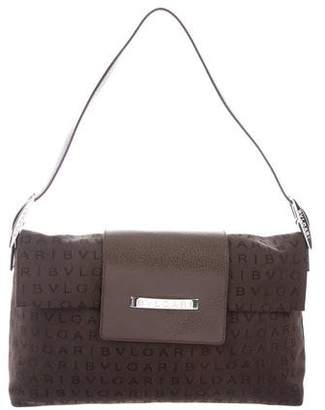 Bvlgari Leather-Trimmed Shoulder Bag