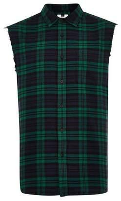 Topman Mens Multi Black Watch Sleeveless Shirt