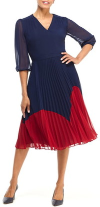 Maggy London Chiffon Fit & Flare Dress