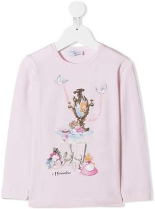 MonnaLisa Cinderella print longsleeved T-shirt