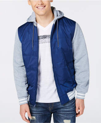 American Rag Men's Fleece Varsity Jacket, Created for Macy's