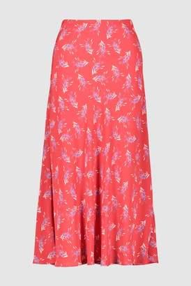 Next Womens Pink Animal Print Midi Skirt