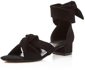 Raye Aurora Ankle Wrap Block Heel Sandals $215 thestylecure.com