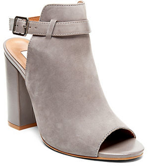 Steve Madden Carnabi Leather Peep-Toe Bootie $129 thestylecure.com