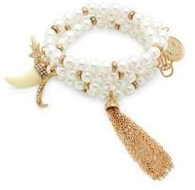 Design Lab Faux-Pearl Multi-Strand Bracelet