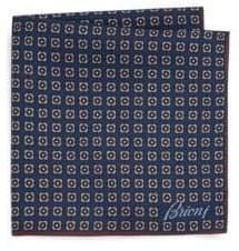 Brioni Medallion Silk Pocket Square