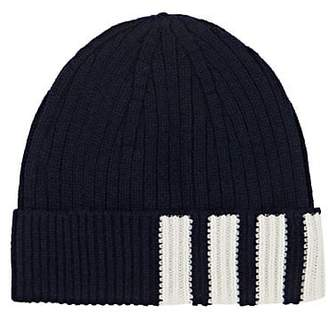 Thom Browne Men's Rib-Knit Cashmere Beanie - Navy