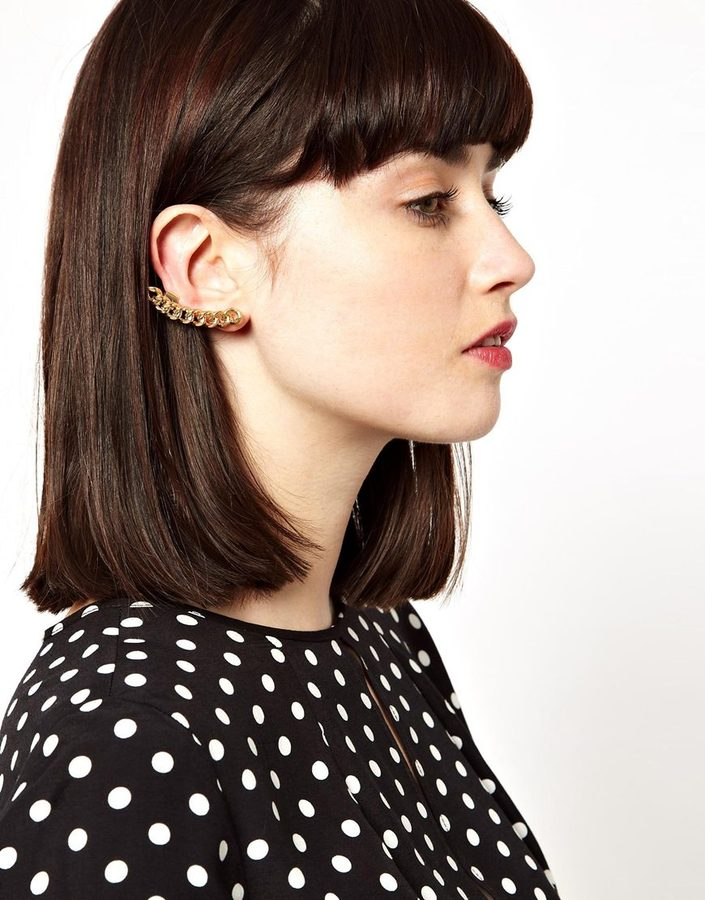 Asos Chain Ear Cuff - Gold
