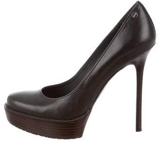 Calvin Klein Leather Platform Pumps