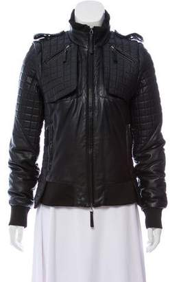 Diesel Black Gold Quilted Leather Jacket