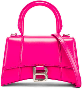 Balenciaga XS Hourglass Top Handle Bag in Acid Fuchsia | FWRD