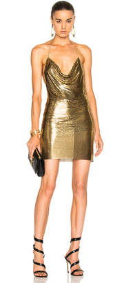 Balmain Metallic Halter Dress