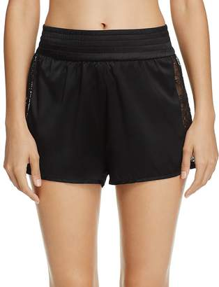 KENDALL + KYLIE Satin & Lace Tap Shorts