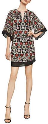 BCBGMAXAZRIA Tati Floral-Embroidered Dress