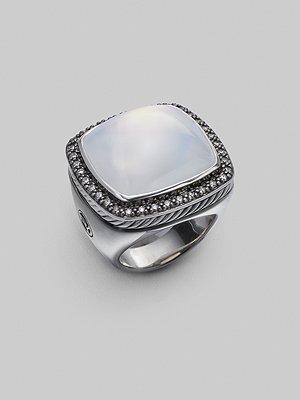 David Yurman Moonstone, Diamond & Sterling Silver Ring