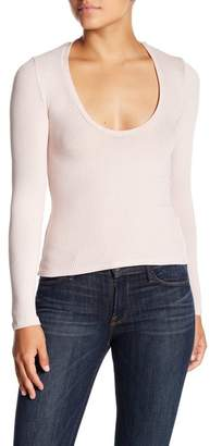 Project Social T Ribbed Long Sleeve Scoop Neck Tee